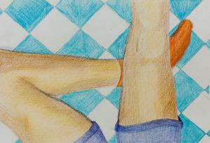 Kunstunterricht - Schülerarbeit im Figürlichen Zeichnen
