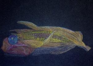 Kunstunterricht - Schülerarbeit Zeichnen Farbstift