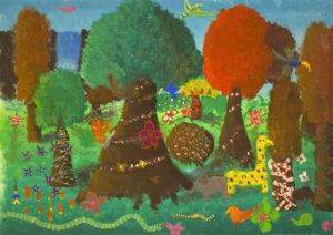 Kunstunterricht - Farbenlehre Schülerarbeit Malen