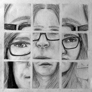 Kunstunterricht - Schülerarbeit Selbstportrait