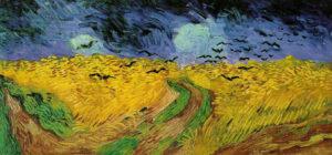 Farbenlehre - Komplementäre Farben bei Vincent van Gogh Weizenfeld mit Raben