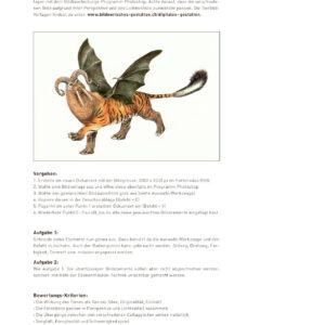 Aufgabe Tier-Fabelwesen mit detaillierter Photoshop-Anleitung